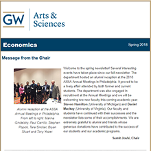 2018 CCAS Economics Department Newsletter