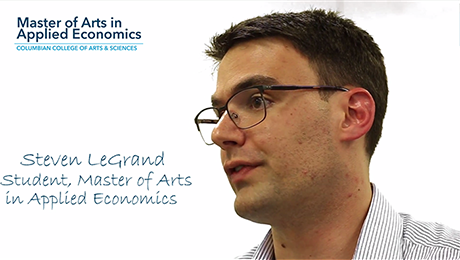 GW CCAS Master of Arts in Applied Economics Testimonials Video Thumbnails