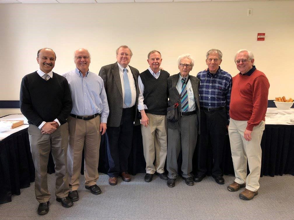 Current and former chairs of the department: Joshi, Phillips, Cordes, Boulier, Stewart, Goldfarb and Parsons. (Not present: Chiswick and Watson).