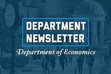 Economics Department Newsletter Graphic