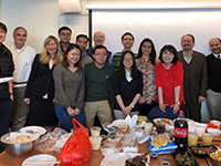 GW Economics faculty and grad students gathered for a potluck to celebrate the Lunar New Year