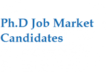 Ph.D. Job Market Candidates