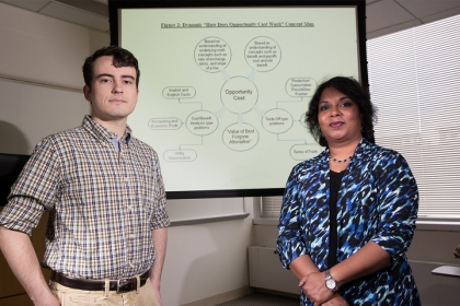 Luther Rice fellow Connor Delaney and his faculty mentor, Economics Professor Irene Foster, developed a concept-map strategy for